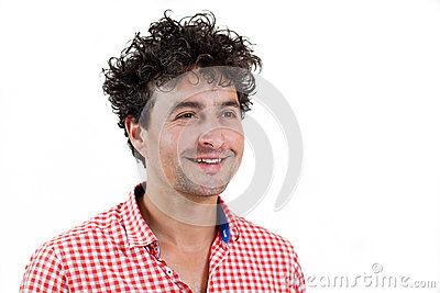 Portrait of a casual man smiling