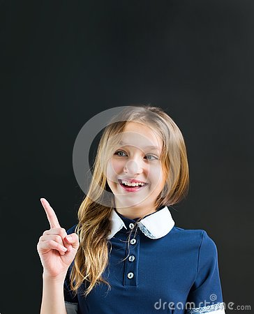 Free Portrait Character Funny Teenager Pupil Girl Green Stock Image - 126694811