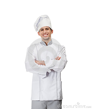 Portrait of chef cook with arms crossed