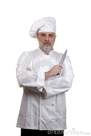 Portrait of a Chef with a Knife