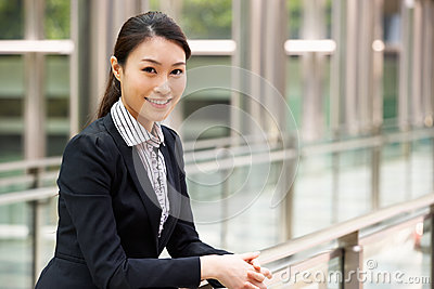 Portrait Of Chinese Businesswoman Outside Office