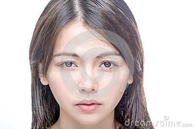 Portrait of Chinese woman clear skin