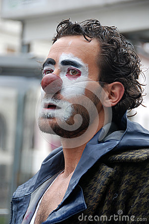 Portrait of a clown Editorial Stock Photo