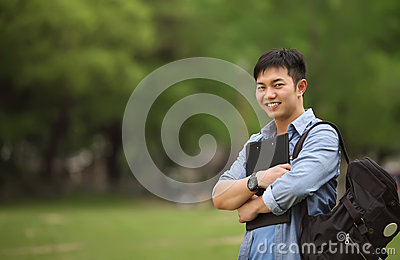 Portrait college student