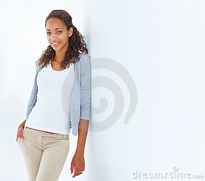 Portrait Of A Confident Attractive Young Woman Stock Image - Image: 8814751