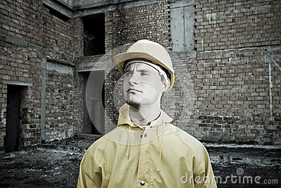 Portrait of confident construction worker