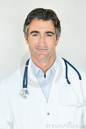 Portrait of a confident handsome male doctor