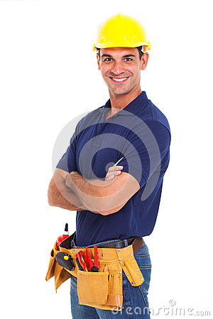 Handyman crossed arms