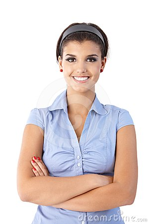 Portrait of confident smiling woman