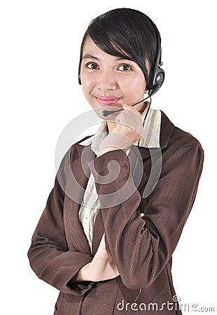 Portrait of a confident young female
