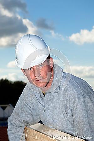 Portrait construction worker