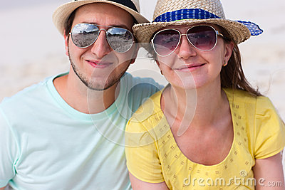 Portrait of a couple at beach
