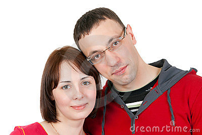 Portrait of couple in love