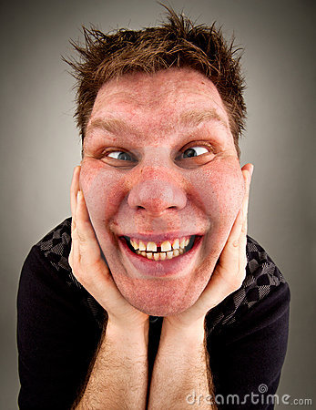 Portrait Of Crazy Bizarre Man Stock Images - Image: 19134334