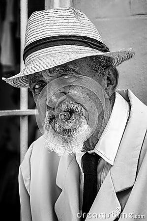 Portrait of a Cuban older gentleman Editorial Stock Photo