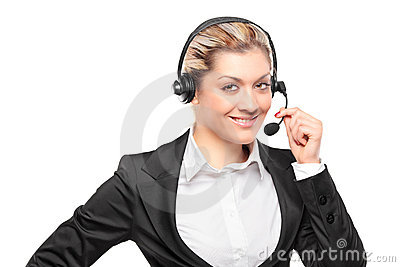 Portrait of a customer service operator
