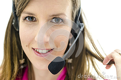Portrait of customer service representative