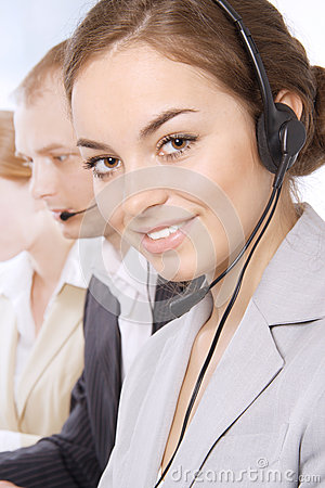 Portrait Of Customer Service Representatives Stock Images - Image: 24848174
