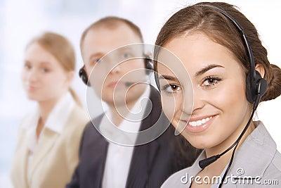 Portrait of customer service representatives