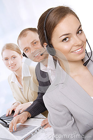 Portrait of customer service representatives