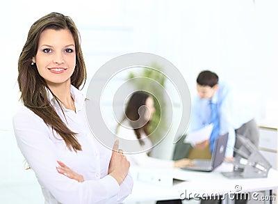 Portrait of a cute business woman