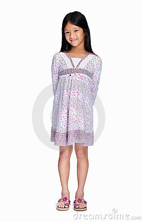 Portrait of a cute girl isolated on white