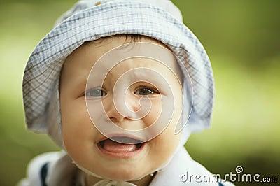 Portrait of cute screaming boy