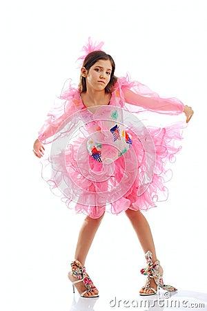 Portrait of cute teen dance girl