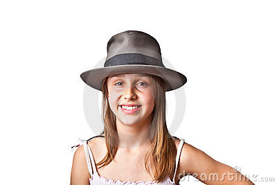 Portrait of cute young teenage girl
