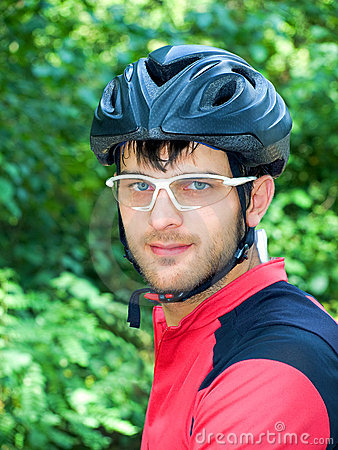 Portrait of cyclist