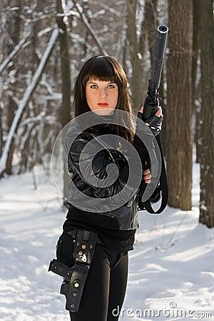 Portrait of dangerous lady