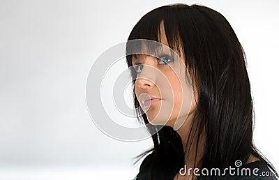 Portrait of the dark-haired girl