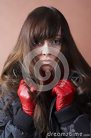 Portrait de la fille froide