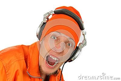 Portrait deejay close-up