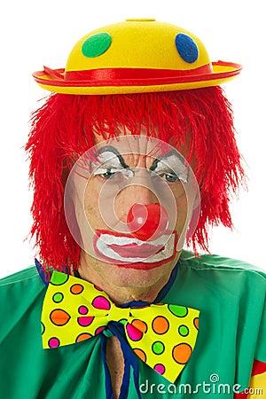 Portrait of a depressed clown