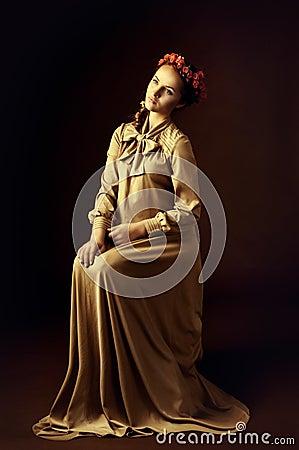 Portrait der jungen Frau