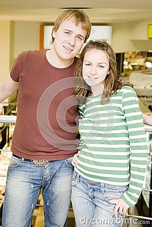Portrait der jungen Paare