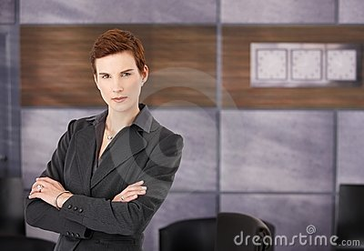 Portrait of determined businesswoman