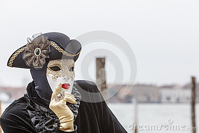 Portrait of a Disguised Person Editorial Stock Photo