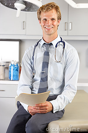 Portrait Of Doctor In Doctor s Office