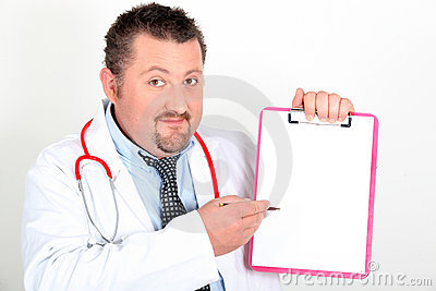 Portrait of a doctor with notepad
