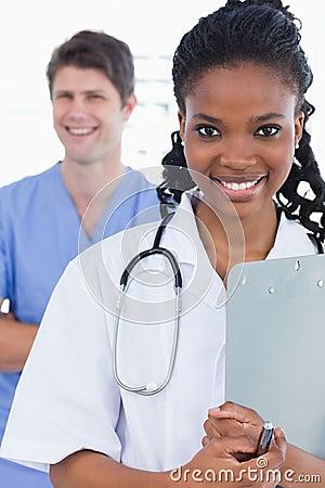 Portrait of doctors standing up