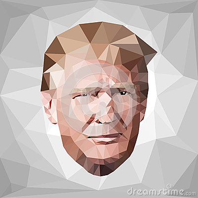 Free Portrait Donald John Trump Candidate Low Poly U.S. Stock Photo - 68226620