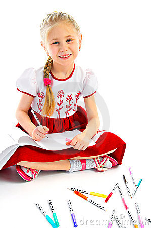 Portrait drawing girlie