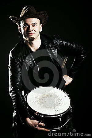 Portrait of a drummer