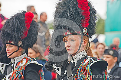 Portrait of Drummer at Braemar Royal Gathering Editorial Image