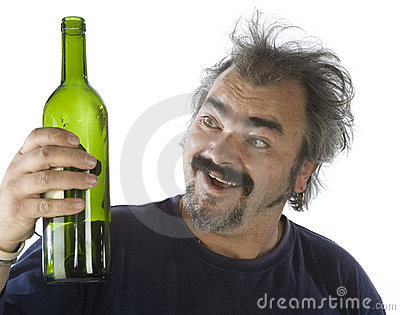 Portrait of a drunk man