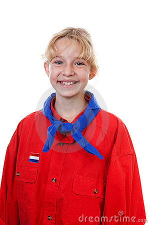 Portrait of  Dutch scout girl