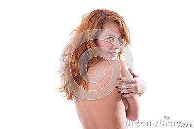 Portrait of eautiful red-head girl