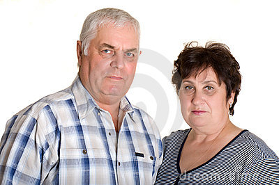 Portrait of an elderly couple.